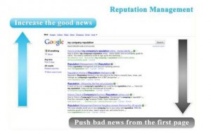 pushing up good news for reputation management