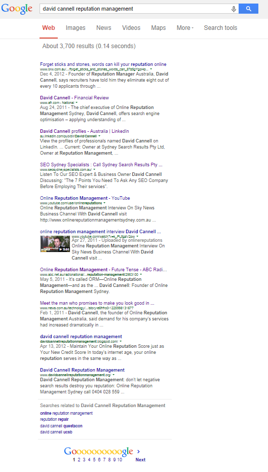 david cannell google results 29 sept 2014 v2